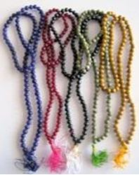 "Picture of Spatik Mala colors 108 Beads 16"" long"