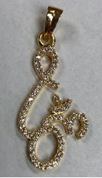Picture of Pendant Om Sign Gold finish Diamond